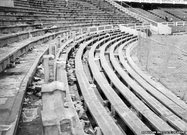 The stadium in 1964, after the tragedy