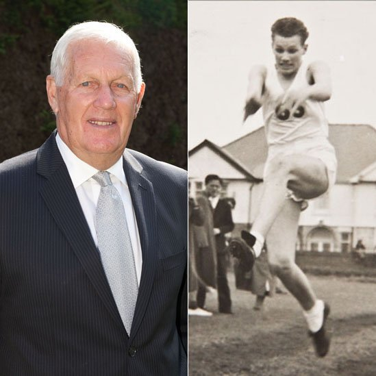 Norman Richards in 2014 and 1958