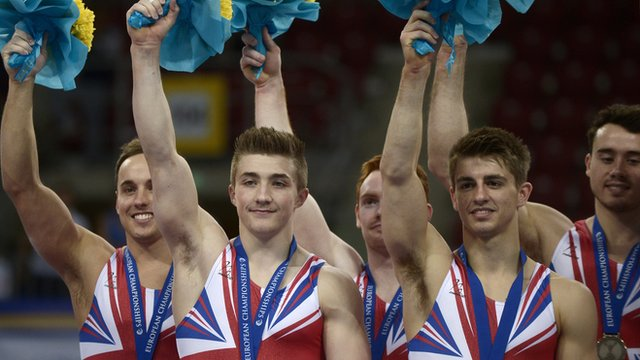 Great Britain's men win team silver at the European Championships in Sofia.