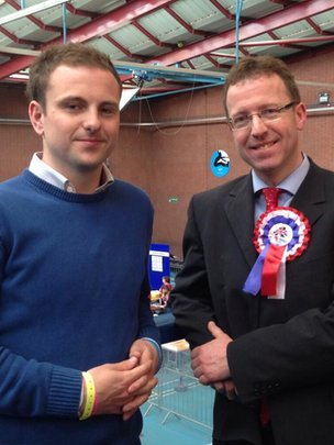 Two men, both named Andrew Wilson, and both members of the UUP, were elected at the Mid and East Antrim counts