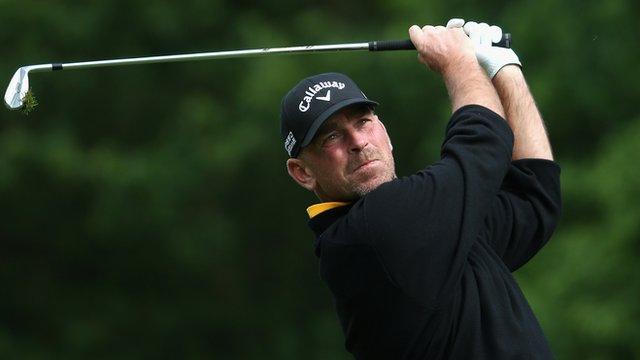 PGA Championship: Thomas Bjorn leads after birdie blitz