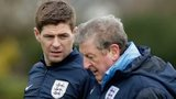 Steven Gerrard (left) and Roy Hodgson