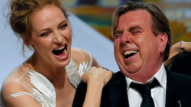 Uma Thurman and Timothy Spall