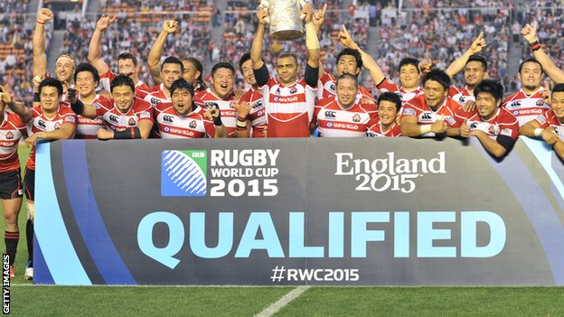 Japan qualify for 2015 Rugby World Cup