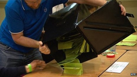 Counting in the republic of ireland elections