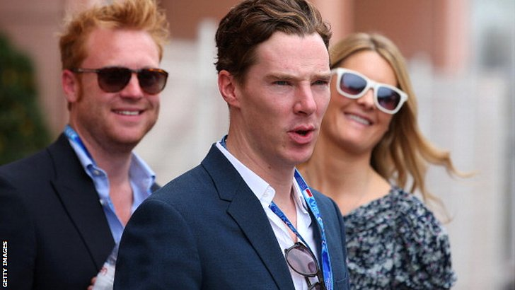Benedict Cumberbatch arrives at the Monaco Grand Prix