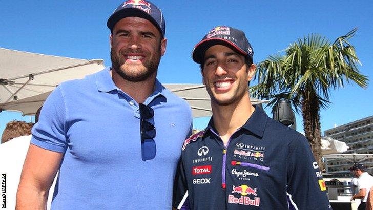 Jamie Roberts (left) and Daniel Ricciardo