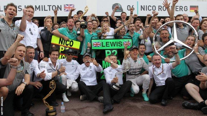 Mercedes celebrations