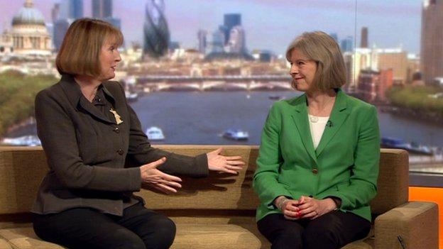Harriet Harman and Theresa May