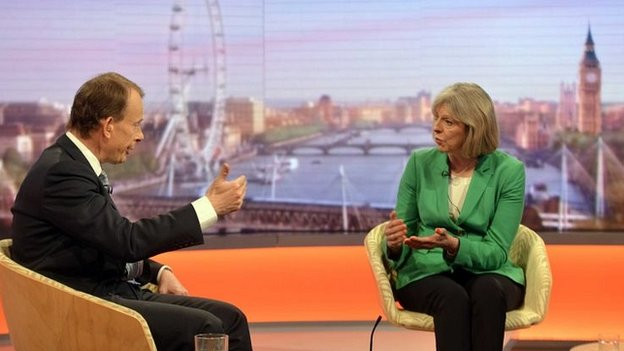 Theresa May on the BBC's Andrew Marr Show
