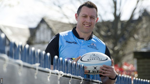 Glasgow Warriors assistant coach Matt Taylor