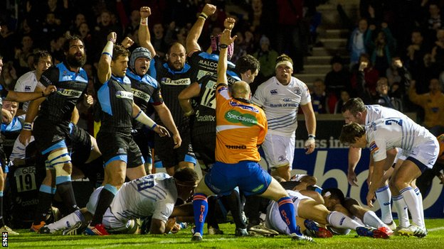 Glasgow score against Leinster