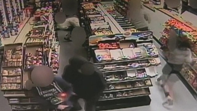 CCTV of deli shooting
