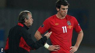 Brian Flynn with Gareth Bale