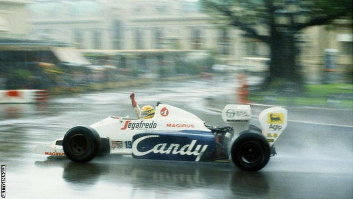Ayrton Senna wins in the rain in 1984 in Monaco