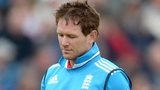 England captain Eoin Morgan is dismissed