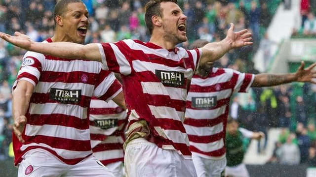 Highlights - Hibs 0-2 Hamilton (agg 2-2, 3-4 pens)