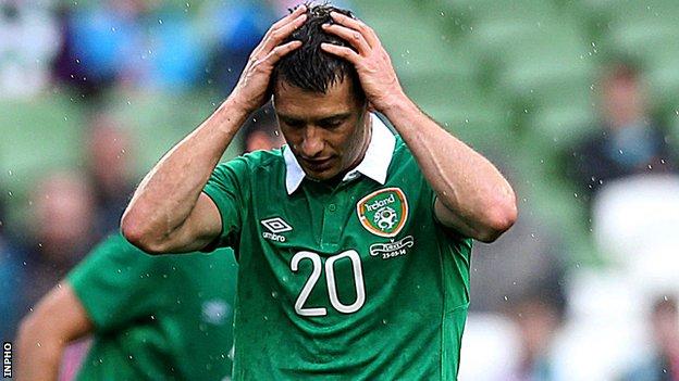 Wes Hoolahan of the Republic of Ireland