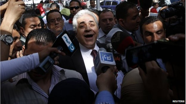 Hamdeen Sabahi at polling station in Cairo (26/05/14)