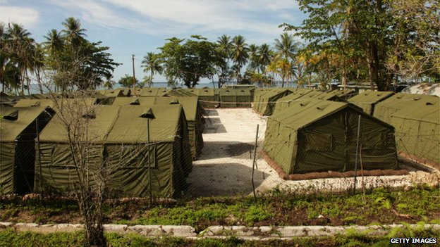 Asylum seekers are housed at the Manus Island Regional Processing Facility, seen here in this 2012 handout photo.