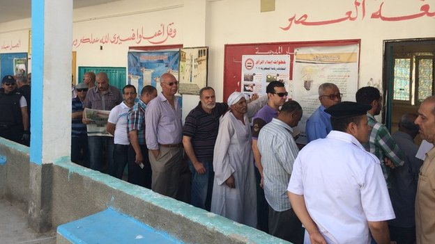 Voters in Suez (26/05/14)