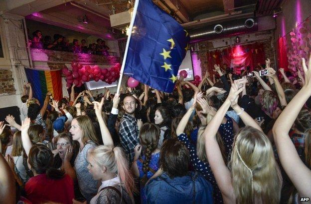 Feminist Initiative celebrations in Sweden, 25 May