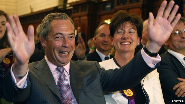 UKIP's Nigel Farage, 25 May 14