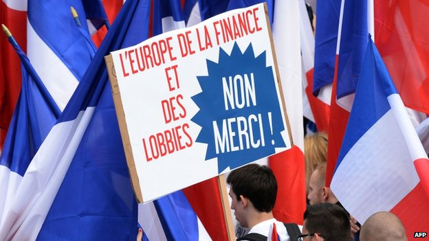 Supporters of Frances far-right Front National