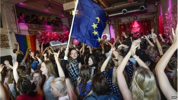 Celebrations at the Swedish Feminist Initiative