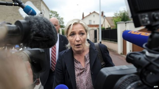 Marine Le Pen in Nanterre, France (26 May 2014)