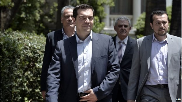 Leader of radical left Syriza party Alexis Tsipras (26 May 2014)