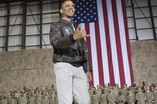 Mr Obama in Bagram