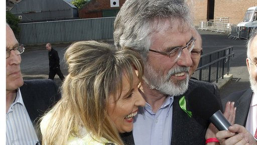 Martina Anderson with party leader Gerry Adams