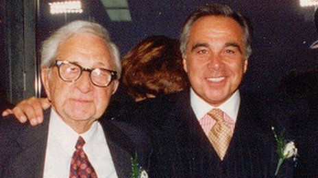 Joe Plumeri with his father