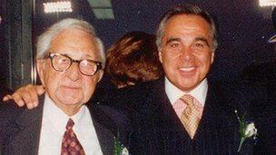 Joe Plumeri with his father