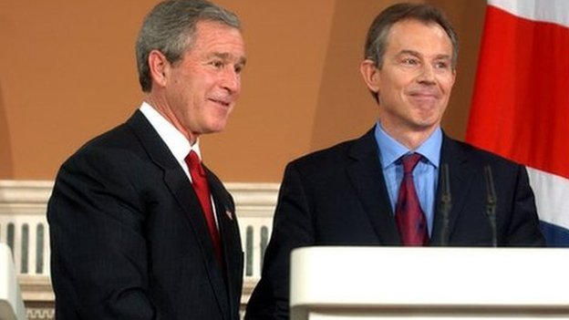 Tony Blair with President George W. Bush in 2003