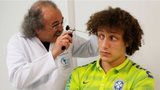 Brazili national football team player David Luiz undergoes a medical check-up,