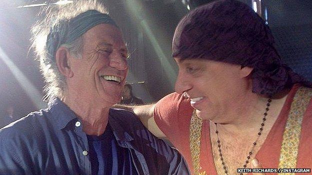 Keith Richards and Steve Van Zandt