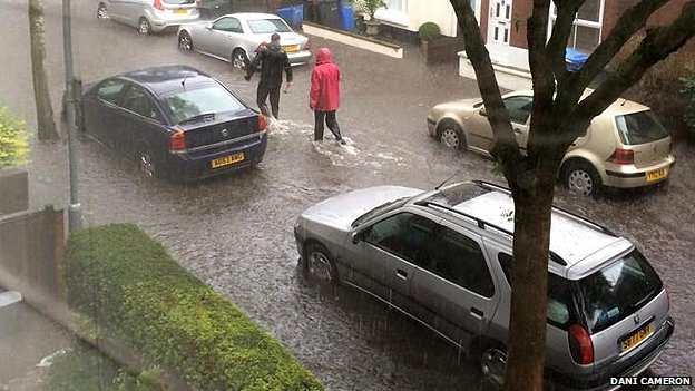 Flooding on Beatrice Road, Norwich