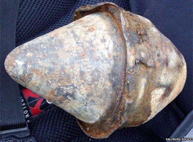 World War II-era bazooka rocket found near Salzburg, Austria, in May 2014