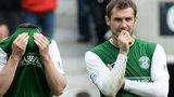 Kevin Thomson during Hibs' play-off final penalty shoot-out