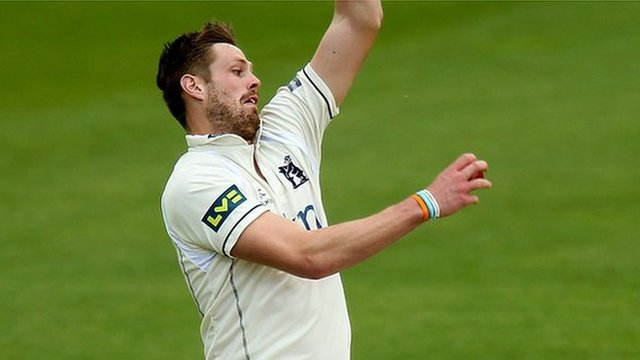 Warwickshire, Ireland and England fast bowler Boyd Rankin, back to full fitness bowling for the Bears against Somerset at Edgbaston