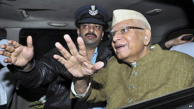 Narayan Dutt Tiwari, right