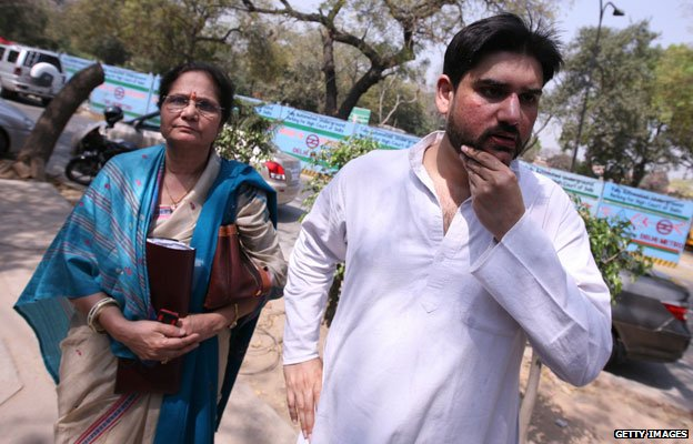 Rohit Shekhar with his mother Ujjawala Sharma March, 2010