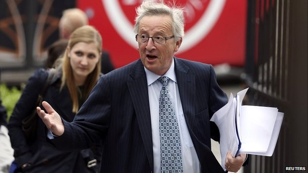 Former Luxembourg premier Jean-Claude Juncker arrives at the summit in Brussels - 27 May 2014