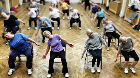 A Rosemary Conley Diet and Fitness Class in Epsom, Surrey