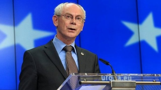 European Council President Herman Van Rompuy addresses the media in Brussels - 27 May 2014