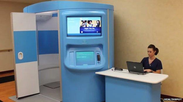 HealthSpot booth