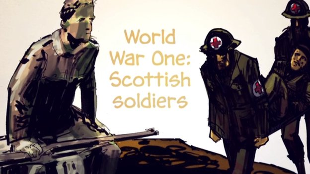 WW1 comic about Scottish soldiers