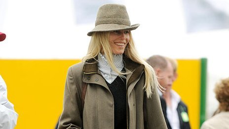 Claudia Schiffer at the Suffolk Show